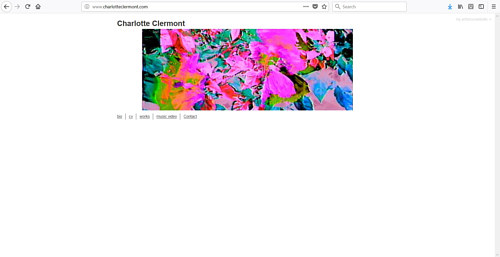 A screen capture of Charlotte Clermont's art website