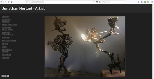 The front page of Jonathan Hertzel's art website