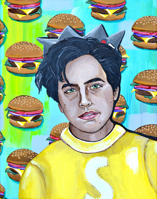 A painting of Cole Sprouse as Jughead