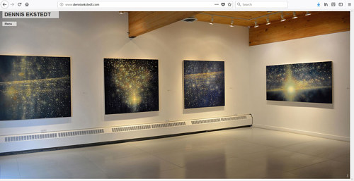 A screen capture of Dennis Ekstedt's art website