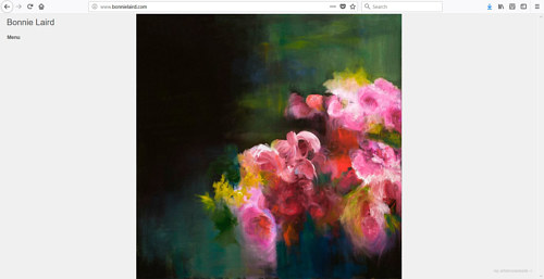 A screen capture of Bonnie Laird's art website