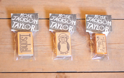A set of bespoke stamps made by Rose Jackson Taylor