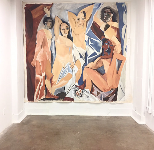 A satirical re-imagining of Picasso's Les Demoiselles D'Avignon