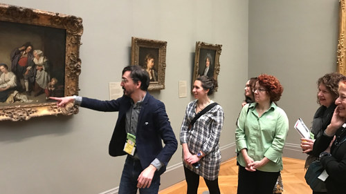 Angelos Nannos leads a food tour of the Met