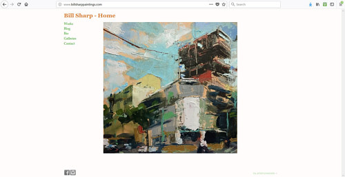 The front page of Bill Sharp's painting website