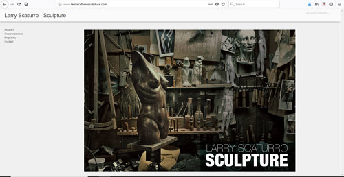 A screen capture of Larry Scaturro's art website