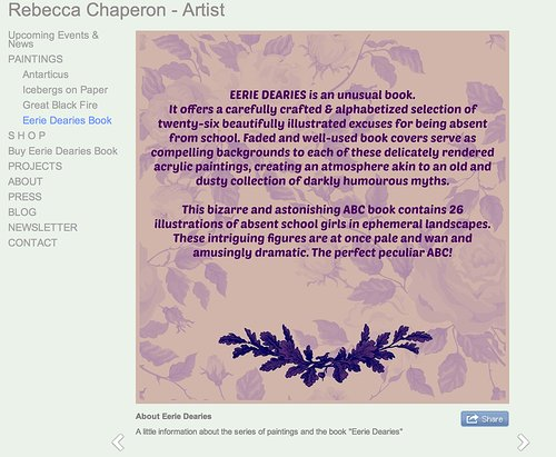 Rebecca Chaperon website screenshot