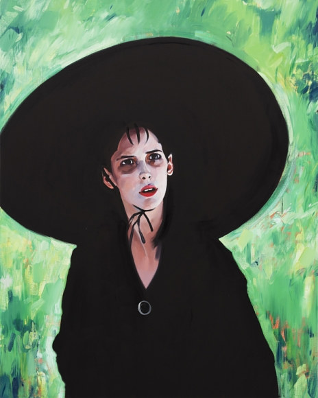 A painting of Lydia from the movie Beetlejuice