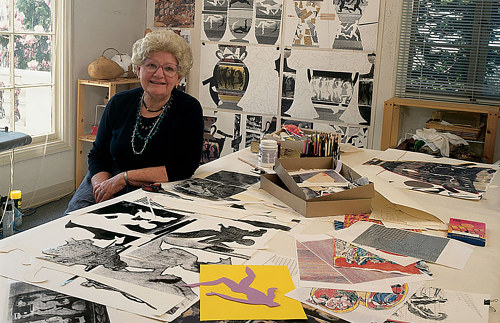 A photograph of the late Katherine Westphal in her studio