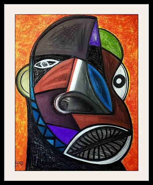 A cubist interpretation of an African face