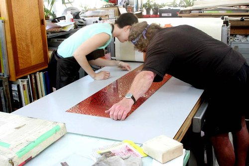 People working in art studio