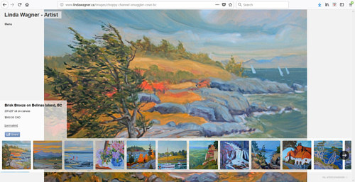 The landscape painting gallery on Linda Wagner's art website