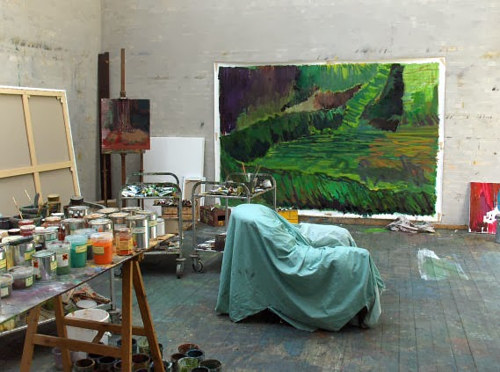 A photo of Per Kirkeby's art studio