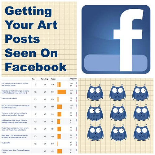 Facebook ad for art posts with blue birds