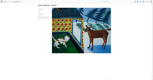 The art portfolio website of Jane Zednik