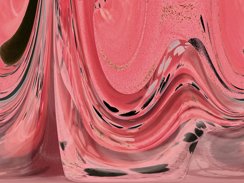 A photographic abstraction of a pink-hued wave