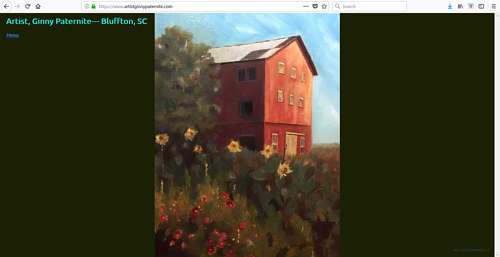 The front page of Ginny Paternite's art website