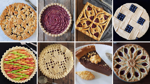 A selection of pies by Karen Pfieff-Boschek