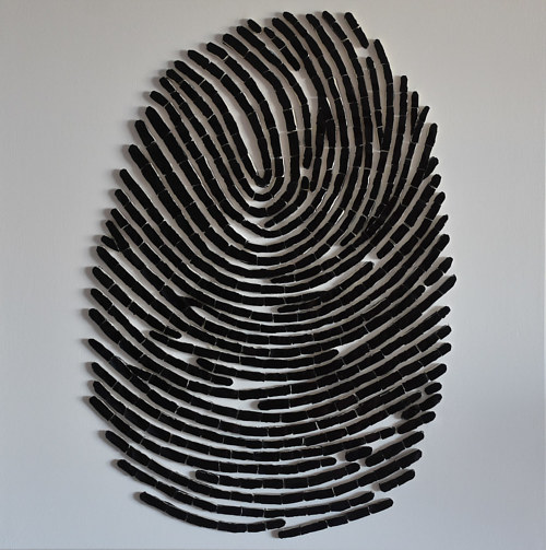 A photo of a mosaic finger print