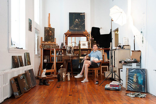 A portrait of Stephen Appleby-Barr's art studio