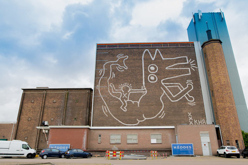 A recently rediscovered Keith Haring mural in Amsterdam