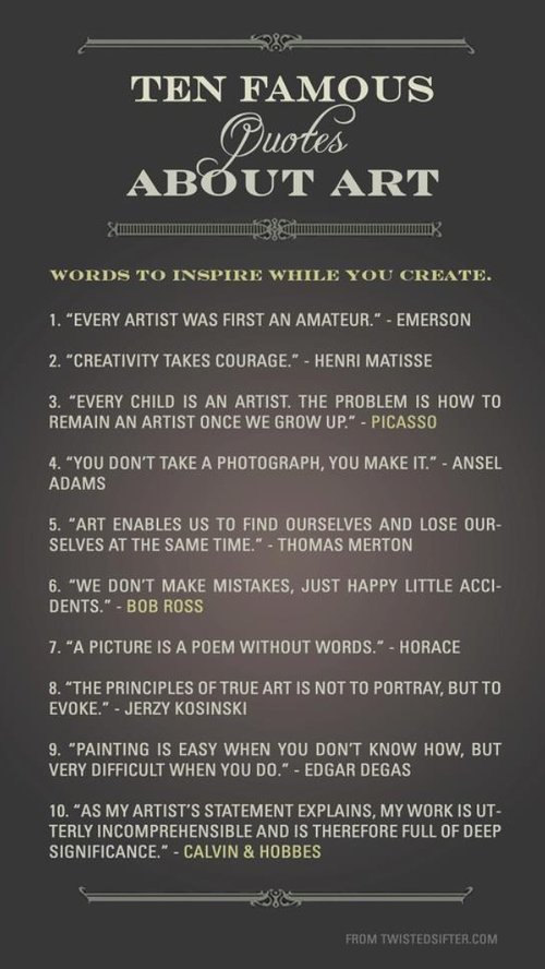 Ten Famous Quotes About Art