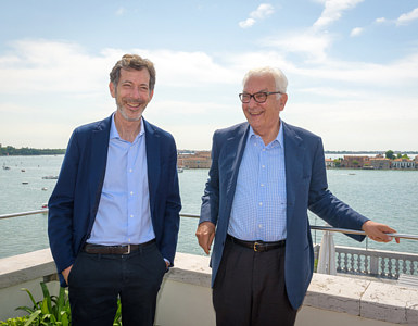 The curator and president of the Venice Biennale