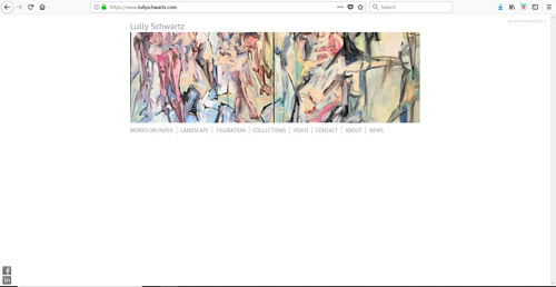 A screen capture of Lully Schwartz' art website