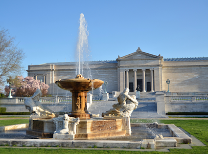 An exterior photo of the Cleveland Museum of Art