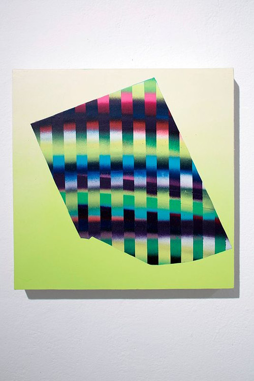 A painting of an abstract geometric pattern