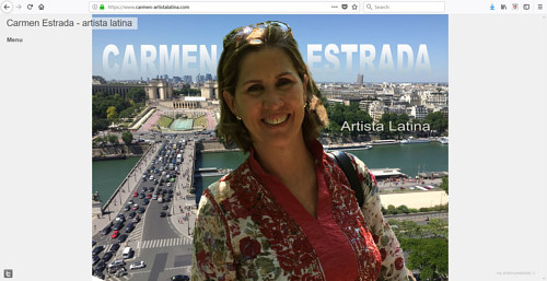 The front page of Carmen Estrada's art website