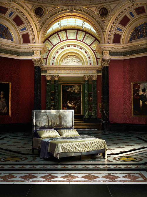 One of the beds available through the National Gallery Collection