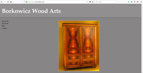 The front page of Peter Borkowicz' art website