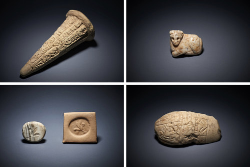 A selection of the artefacts that were returned to Iraqi authorities