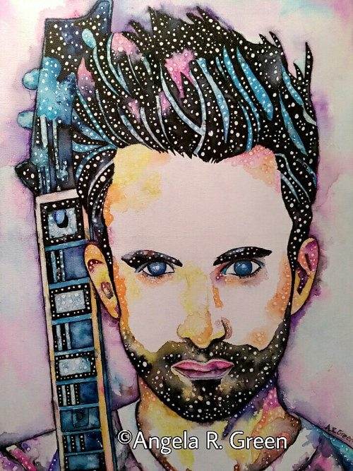 A painting of Adam Levine