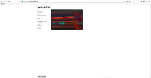 A screen capture of <strong><strong>Wynne</strong> <strong>Palmer</strong></strong>'s art portfolio website