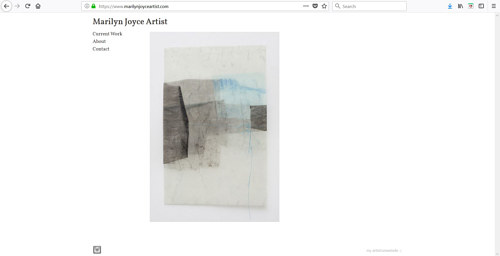 The front page of Marilyn Joyce's art website