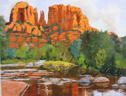 A painting of a landscape near Sedona, Arizona