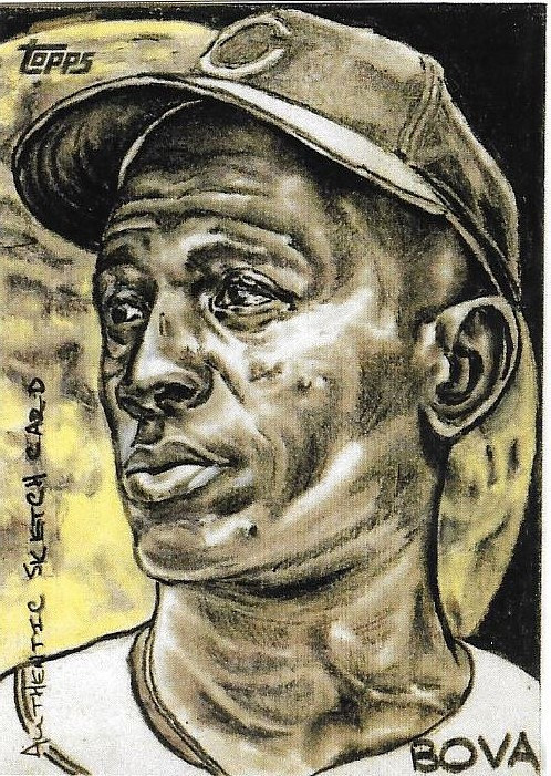 A sketch of a baseball player