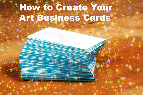 How to create your art business cards
