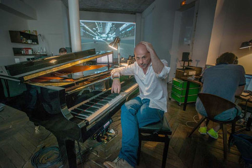 A photo of Philippe Parreno in his studio