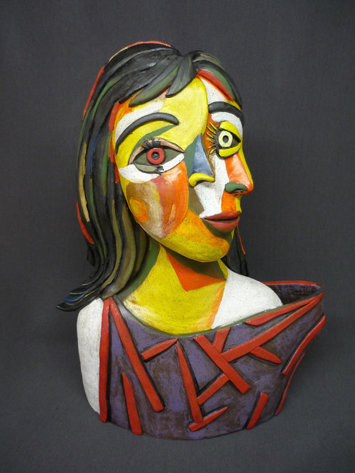 "A bust of one of Picasso's models as ""seen"" by Picasso"