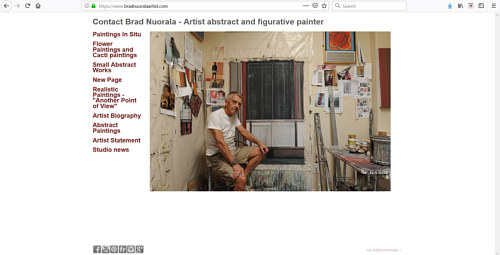 The front page of Brad Nuorala's art portfolio website