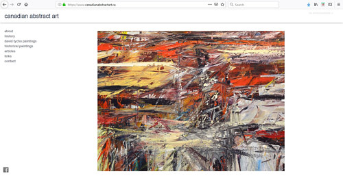 A screen capture of the Canadian Abstract Art online gallery