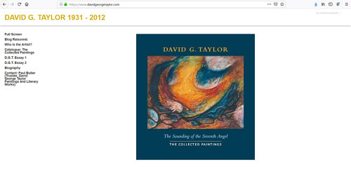 A screen capture of the late David G. Taylor's art website