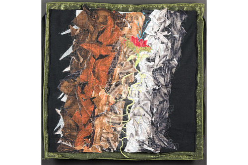 A square of handmade textile art