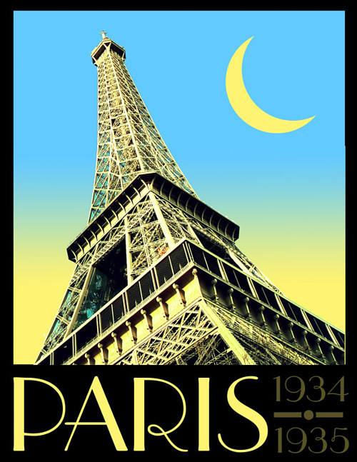 A poster design for the city of Paris, France