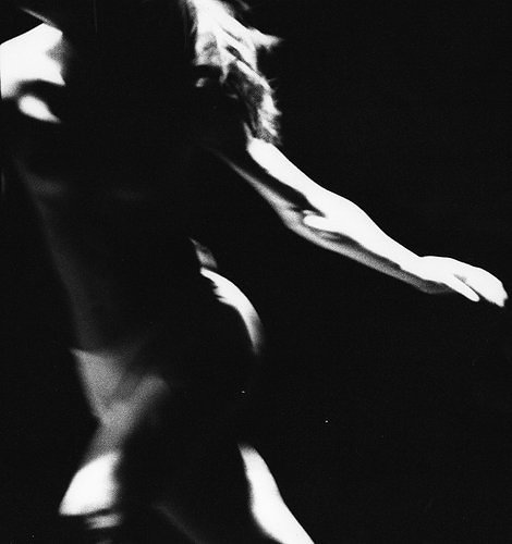 high contrast art photo of woman dancing