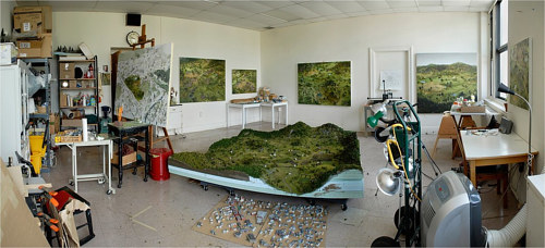 A photo of Amy Bennett's art studio