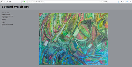 The front page of Edward Welch's art website